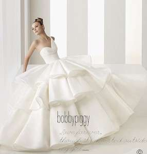 Simple Design Ball Gown One shoulder Wedding Dress Sexy Satin Bridal