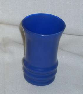 ANCHOR HOCKING RAINBOW FIRE KING BLUE GLASS TUMBLER