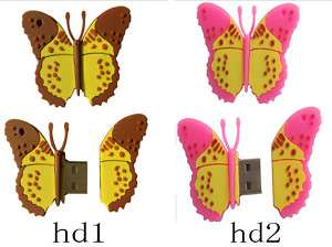 4GB 4G butterfly USB 2.0 Flash Memory Stick Pen Drive