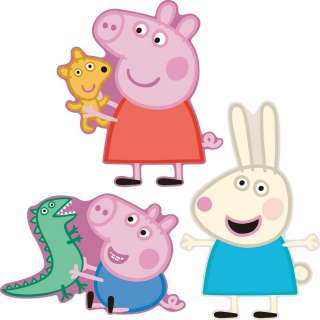 PEPPA PIG FOAM ELEMENTS WALL DECOR. 3 LARGE PIECES