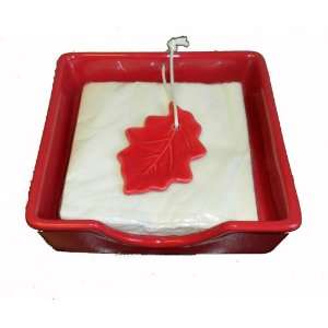 Thanksgiving Fall Leaves Red Maple Leaf Weighted Napkin