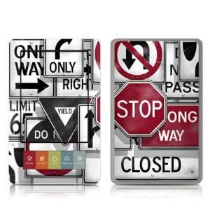 Signs Design Protective Decal Skin Sticker for Barnes and Noble NOOK