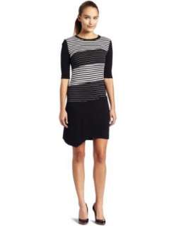 BCBGMAXAZRIA Womens Striped Panel Dress Clothing