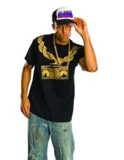 Adult Mens Ghetto Blast Hip Hop Halloween Shirt Clothing