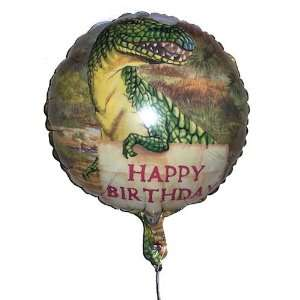18 inch Happy Birthday T rex Dinosaur Mylar Balloon Toys & Games