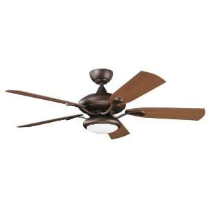 Ceiling Fan with Reversible Light Walnut/Dark Walnut Blades 310127WCP