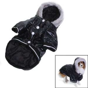 Pet Dog Hoodie Hooded Winter Puffy Coat Jacket Size XL   Black Pet