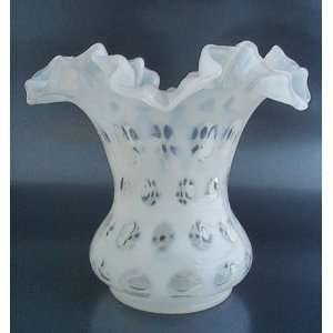 Fenton Glass French Opalescent COIN DOT Vase #1456