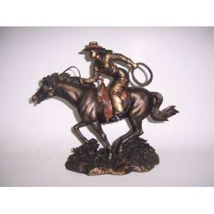 Riding Horse Statue Sculpture Figurine    9x10x4