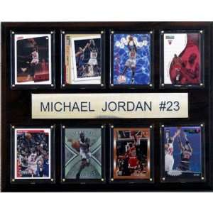 NBA Michael Jordan Chicago Bulls 8 Card Plaque
