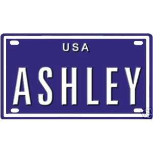 Ashley USA 2 1/4 X 4 Embossed Aluminum License Plate Baby