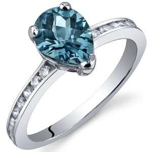 Uniquely Sophisticated 1.25 Carats London Blue Topaz Ring in Sterling