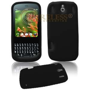 Palm Pixi CDMA Sprint PDA Solid Black Silicon Skin Case