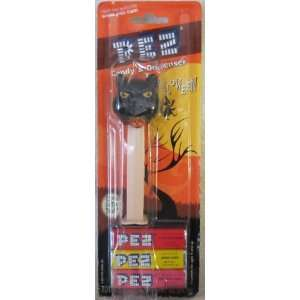 in the Dark Happy Halloween Black Cat Pez Dispenser in Blister Pack