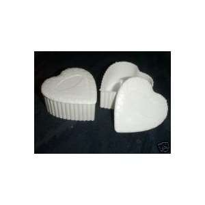 12 White Plastic Heart Box Wedding Favor Candy Holder