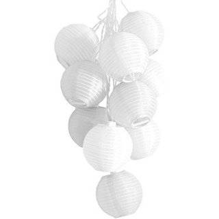 Solar Powered White String Lights. 10 Mini Lanterns in a