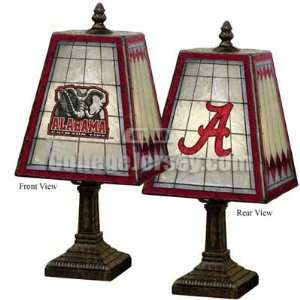 Alabama Crimson Tide Art Glass Table Lamp Memorabilia