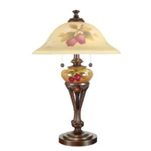Dale Tiffany TT101427 Milla Hand Painted Table Lamp, Antique Golden