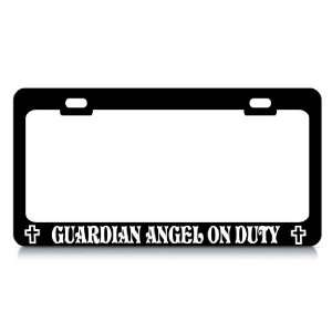 GUARDIAN ANGEL ON DUTY #2 Religious Christian Auto License Plate Frame