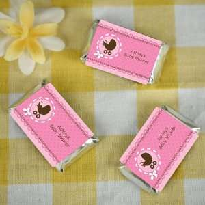 Girl Baby Carriage   20 Mini Candy Bar Wrappers Sticker Labels