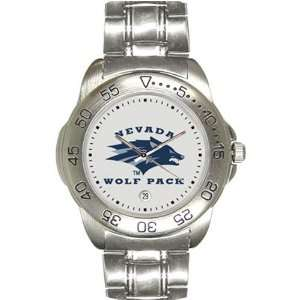 Nevada Wolf Pack Mens Gameday Sport Watch w/Stainless
