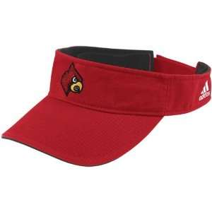 adidas Louisville Cardinals Youth Red Basic Logo Adjustable Visor
