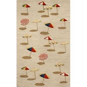 Trans Ocean Beach Umbrella Natural Rug   2 x 8 Runner