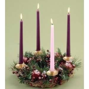 of 2 Berry & Pine Christmas Advent Candle Wreaths 14