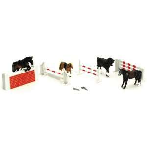 Country Life Farm Animal Horses Playset Toys & Games