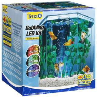 Tetra Bubbling LED Hexagon Aquarium Kit, 1ct Fish