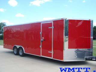 24 car trailer 10k GVWR V NOSE auto hauler Enclosed 24 foot IN STOCK