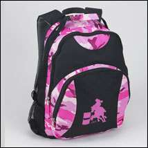 NWT LILA KIDS PINK CAMO BARREL RACING HORSE BACKPACK
