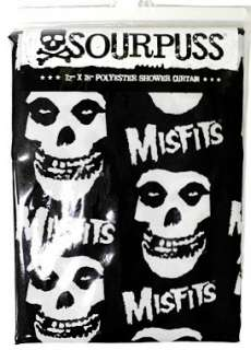 Shower Curtain Misfits Skull Punk Rockabilly Tattoo Retro Fiend Danzig