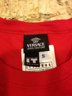 VERSACE JEANS COUTURE * MENS RED SHIRT * RUNWAY * Size Small